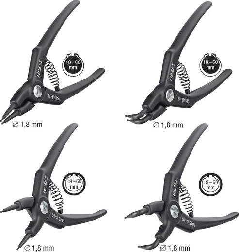 Seegeringzangen-Set Passend für Außen- und Innenringe 19-60 mm 19-60 mm Spitzenform gerade, abgewinkelt 90° Hazet 1845/4