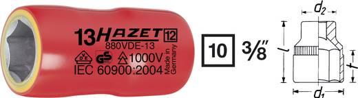 "Außen-Sechskant VDE-Steckschlüsseleinsatz 18 mm 3/8"" (10 mm) Produktabmessung, Länge 47.5 mm Hazet 880VDE-18"