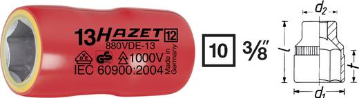 "Außen-Sechskant VDE-Steckschlüsseleinsatz 8 mm 3/8"" (10 mm) Produktabmessung, Länge 40 mm Hazet 880VDE-8"