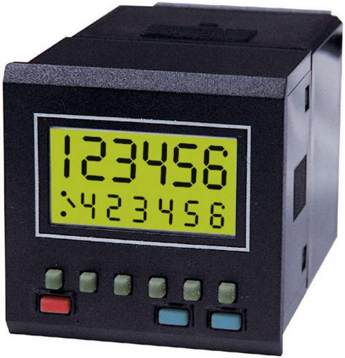 Trumeter 7932 Vorwahlzähler und Timer mit Vorteiler, Einbaumaße 45 x 45 mm