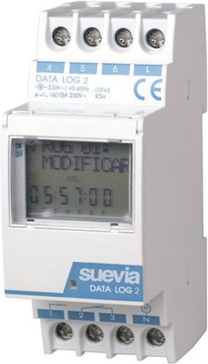Hutschienen-Zeitschaltuhr digital Suevia Data Log II 230 V/AC 16 A/250 V