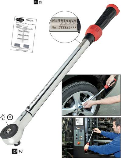 """Vigor V3441 V3441 Drehmomentschlüssel mit Umschaltknarre 1/2"""" (12.5 mm) 40 - 200 Nm"""