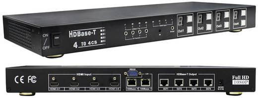 4 Port HDMI-Matrix-Switch Inakustik HD-Base-T Matrix 4 x 4 3D-Wiedergabe möglich 1920 x 1080 Pixel