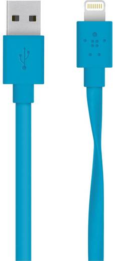iPad/iPhone/iPod Datenkabel/Ladekabel [1x USB 2.0 Stecker A - 1x Apple Dock-Stecker Lightning] 1.2 m Blau Belkin
