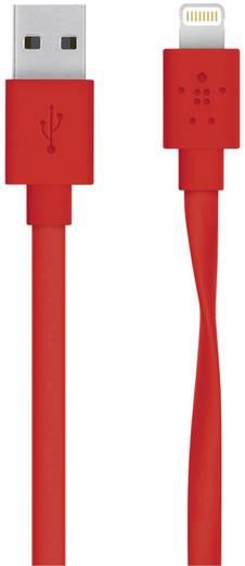 iPad/iPhone/iPod Datenkabel/Ladekabel [1x USB 2.0 Stecker A - 1x Apple Dock-Stecker Lightning] 1.20 m Rot Belkin
