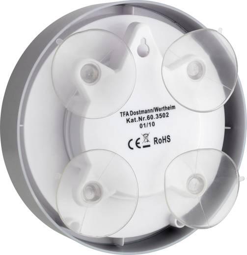 Funk Wanduhr TFA 60.3502 16.5 cm x 5 cm Silber Badezimmer-/Feuchtraum geeignet