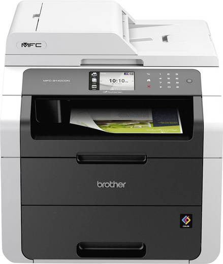 Brother MFC-9142CDN Farblaser-Multifunktionsdrucker A4 Drucker, Kopierer, Scanner, Fax ADF, Duplex, LAN