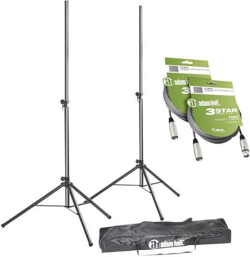Boxenständer-/Kabel-Set XLR - Set aus 2 Boxenständern mit Tasche und 2 XLR Kabeln