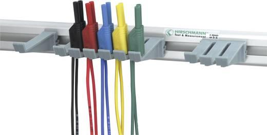 Sicherheits-Messleitungs-Set [ Lamellenstecker 2 mm - Lamellenstecker 2 mm] 1 m Schwarz, Rot, Blau, Gelb, Grün SKS Hirs