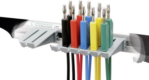 Messleitungs-Set [ Lamellenstecker 4 mm - Lamellenstecker 4 mm] 1 m Schwarz, Rot, Blau, Gelb, Grün SKS Hirschmann PMS 4