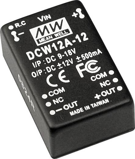 DC/DC-Wandler Mean Well DCW12A-12 500 mA