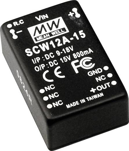 DC/DC-Wandler Mean Well SCW12A-15 800 mA