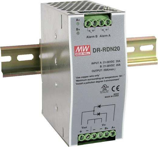 Hutschienen-Redundanz-Modul (DIN-Rail) Mean Well DR-RDN20 Anzahl Ausgänge: 1 x