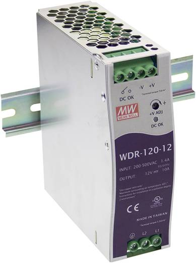 Hutschienen-Netzteil (DIN-Rail) Mean Well WDR-120-48 48 V/DC 2.5 A 120 W 1 x