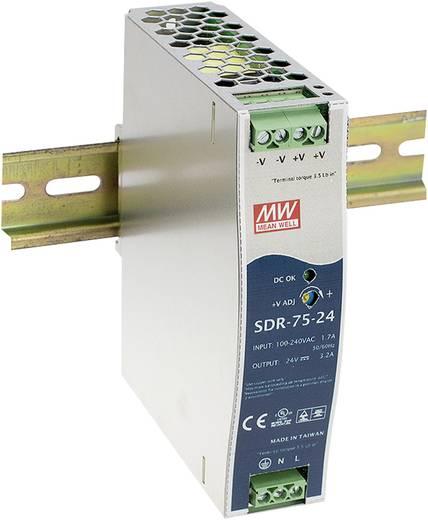 Hutschienen-Netzteil (DIN-Rail) Mean Well SDR-75-12 12 V/DC 6.3 A 75 W 1 x