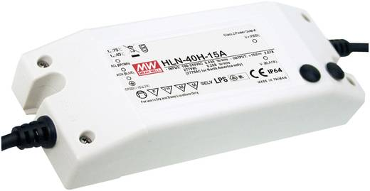 LED-Treiber, LED-Trafo Konstantspannung, Konstantstrom Mean Well HLN-40H-12A 40 W 3.33 A 7.2 - 12 V/DC dimmbar, PFC-Scha