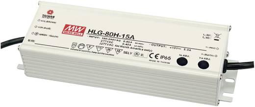 LED-Treiber Konstantstrom Mean Well HLG-80H-15A 75 W 5 A 9 - 15 V/DC PFC-Schaltkreis, Überlastschutz, dimmbar