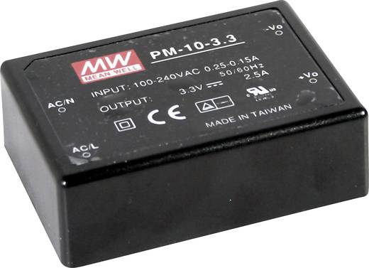 AC/DC-Printnetzteil Mean Well PM-10-3.3 3.3 V/DC 2.5 A 8 W