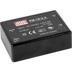 Sieťový zdroj AC/DC do DPS Mean Well PM-10-3.3, 3.3 V/DC, 2.5 A, 8 W