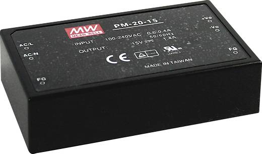 AC/DC-Printnetzteil Mean Well PM-20-12 12 V/DC 1.8 A 21 W