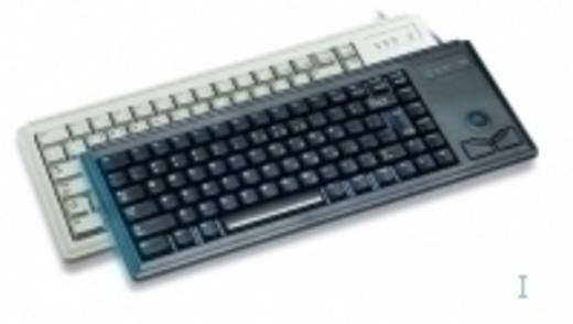 USB-Tastatur CHERRY Compact-Keyboard G84-4400 Schwarz Integrierter Trackball