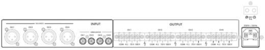 ELA-Verstärker Monacor PA-1450D 50 W 4-Kanal