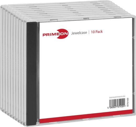 PRIMEON Jewelcase Box für 1 Disc 10er
