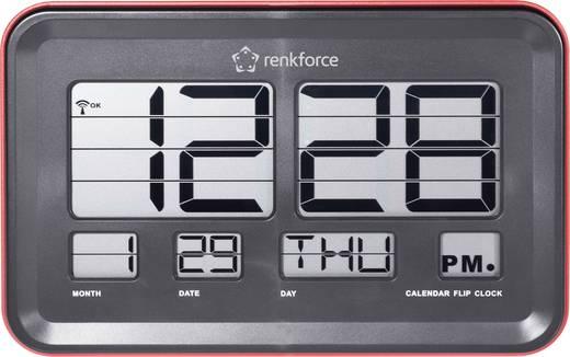 Funk Klappzahlen Wanduhr Renkforce A541 45 mm x 222 mm x 144 mm Rot