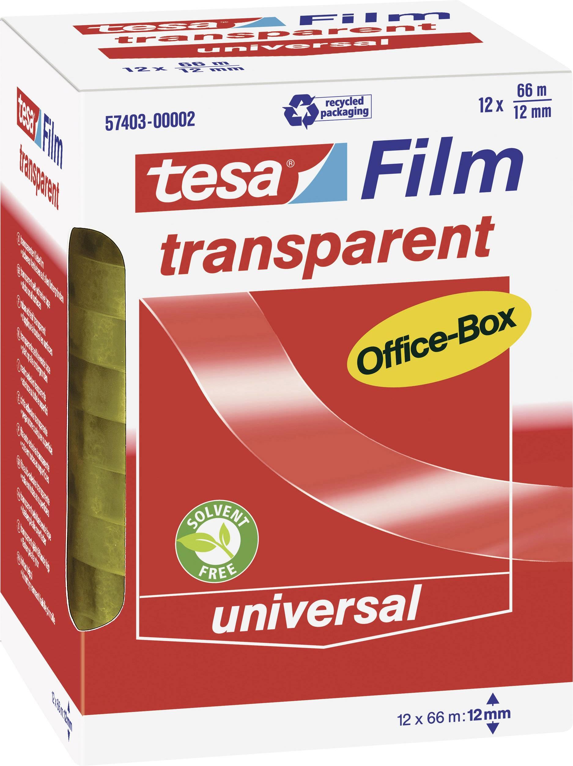 tesafilm Klebeband, transparent, Office-Box mit 12 Rollen, 10m x ...