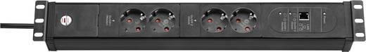 Steckdosenleiste 19 Zoll 4fach Schwarz Schutzkontakt Brennenstuhl 1156057994