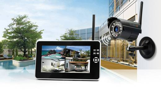 Funk-Überwachungs-Set 4-Kanal mit 1 Kamera 2.4 GHz Technaxx TX-28 4433
