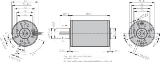 Gleichstrommotor EBM Papst BCI 63.25 24 V 2.7 A 0.14 Nm 3300 U/min Wellen-Durchmesser: 8 mm