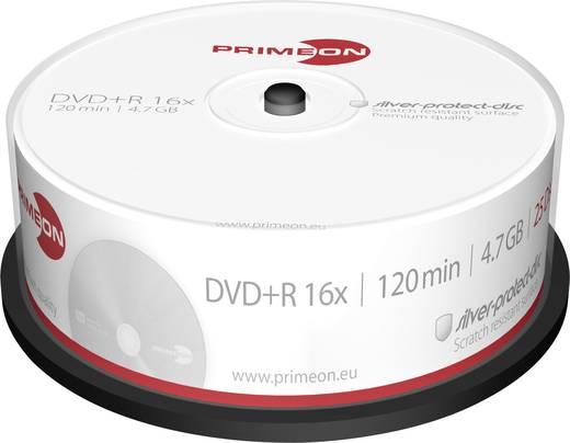 DVD+R Rohling 4.7 GB Primeon 2761223 25 St. Spindel Silber Matte Oberfläche