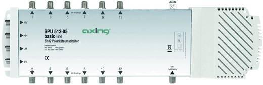 SAT Multischalter Axing SPU 512-05 Eingänge (Multischalter): 5 (4 SAT/1 terrestrisch) Teilnehmer-Anzahl: 12 Quad-LNB-tau