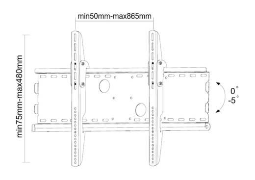 """TV-Wandhalterung 94,0 cm (37"""") - 215,9 cm (85"""") Starr NewStar Products PLASMA-W100"""