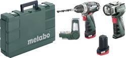 Aku vrtací šroubovák Metabo PowerMaxx BS Basic Set 600080530, 10.8 V, 2 Ah, Li-Ion akumulátor