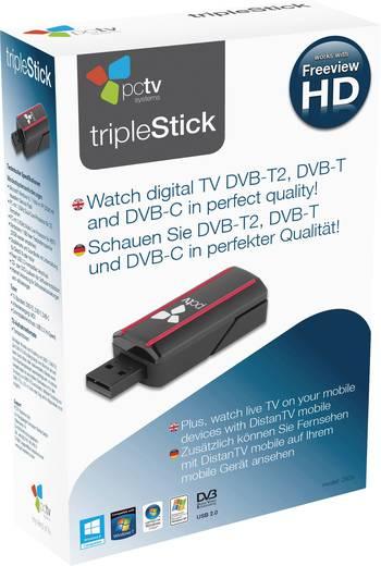 TV-Stick PCTV Systems Triple Stick Aufnahmefunktion, mit Fernbedienung, mit DVB-T Antenne