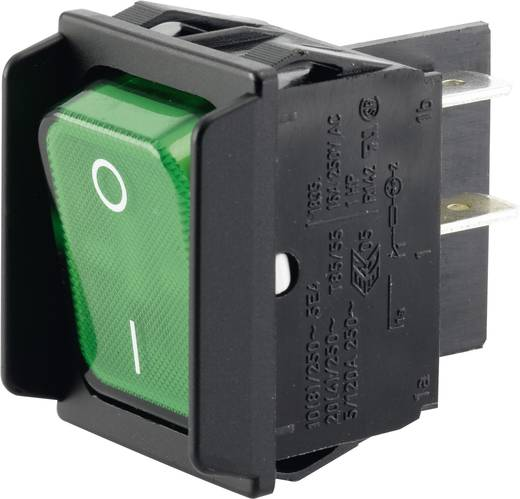 Wippschalter 250 V/AC 16 A 2 x Aus/Ein Marquardt 01835.3608-00 IP40 rastend 1 St.