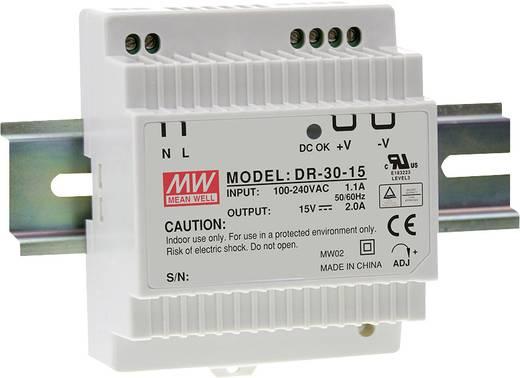 Hutschienen-Netzteil (DIN-Rail) Mean Well DR-30-15 15 V/DC 2 A 30 W 1 x