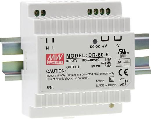 Mean Well DR-60-5 Hutschienen-Netzteil (DIN-Rail) 5 V/DC 6.5 A 32 W 1 x