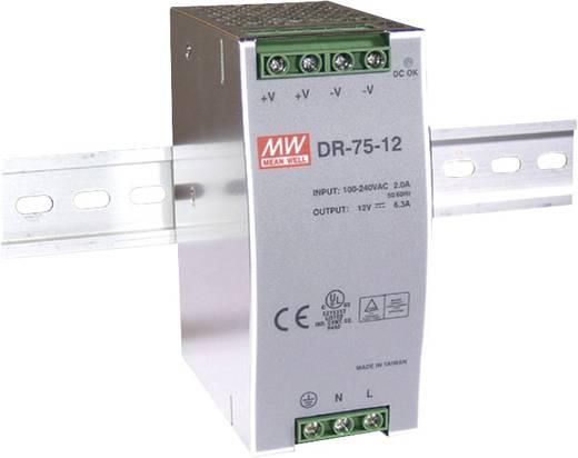 Hutschienen-Netzteil (DIN-Rail) Mean Well DR-75-48 48 V/DC 1.6 A 76.8 W 1 x