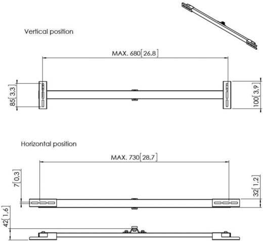 Soundbar-Halterung Starr Wandabstand (max.): 4.2 cm Vogel´s SOUND 3400 Schwarz 1 St.