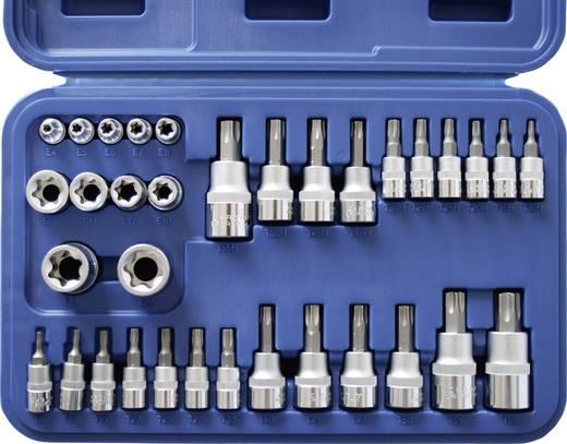"""Innen-TORX, Außen-TORX, TORX BO Steckschlüssel-Bit-Einsatz-Set 34teilig 1/4"""" (6.3 mm), 3/8"""" (10 mm), 1/2"""" (12.5 mm)"""