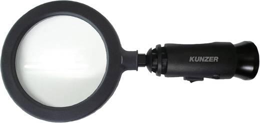 Handlupe mit LED-Beleuchtung Linsengröße: (Ø) 90 mm Schwarz Kunzer