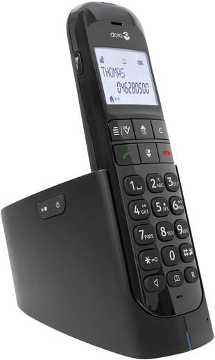 Schnurloses Telefon analog doro Magna 2005 Freisprechen Beleuchtetes Display Schwarz