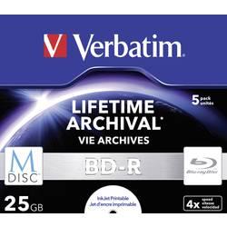 M-DISC Blu-ray 25 GB Verbatim Jewelcase, 43823, možnosť potlače, 5 ks