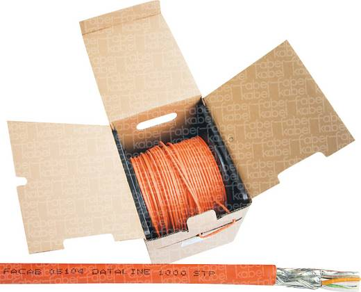 Netzwerkkabel CAT 7 S/FTP 4 x 2 x 0.25 mm² Orange Faber Kabel 101043 200 m