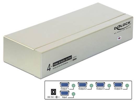 4 Port VGA-Splitter Delock 87655 2048 x 1536 Pixel Grau