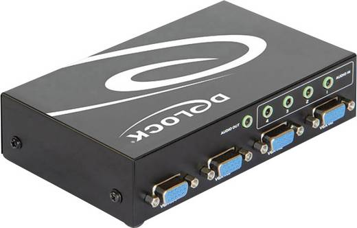 4 Port VGA-Switch Delock 87636 Metallgehäuse 1600 x 1200 Pixel