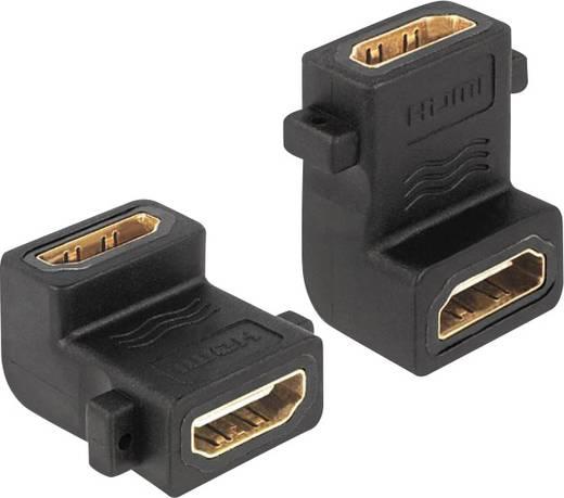 HDMI Adapter [1x HDMI-Buchse - 1x HDMI-Buchse] Schwarz vergoldete Steckkontakte Delock